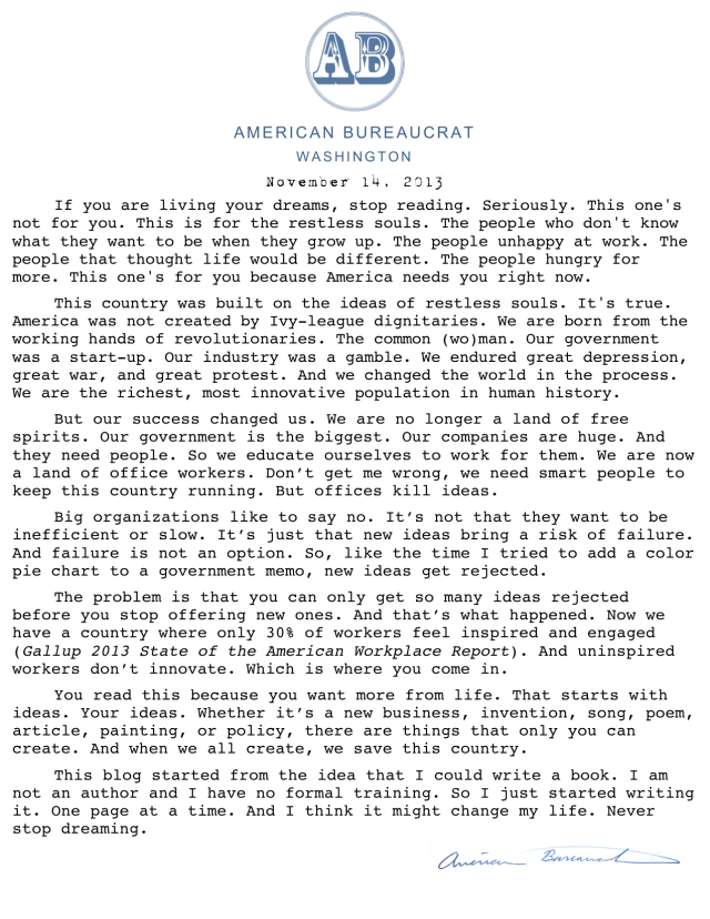 American Bureaurocrat Format (March 2013)