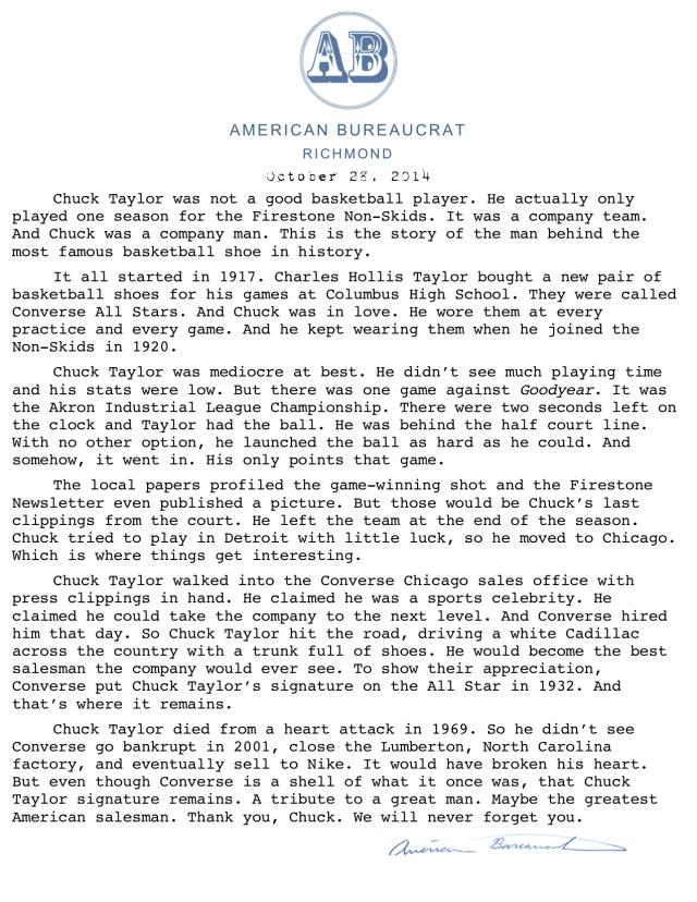 American Bureaurocrat Format (May 2014)